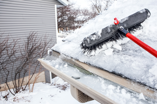 De-ice Roof and Gutters